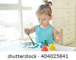 cute little toddler child... | Shutterstock . vector #404025841