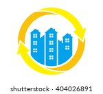 circle blue building real...   Shutterstock .eps vector #404026891