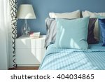 blue color scheme bedding and... | Shutterstock . vector #404034865