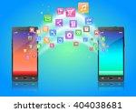 touchscreen smartphone with... | Shutterstock .eps vector #404038681