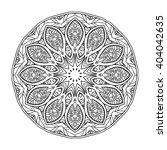 decorative mandala. vector... | Shutterstock .eps vector #404042635