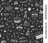 happy birthday vector seamless... | Shutterstock .eps vector #404043661