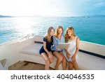 technology and vacation. luxury ... | Shutterstock . vector #404046535