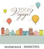 hot air balloons flying over... | Shutterstock .eps vector #404047051