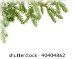 christmas tree border | Shutterstock . vector #40404862