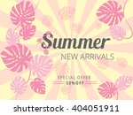 colorful summer new arrivals... | Shutterstock .eps vector #404051911