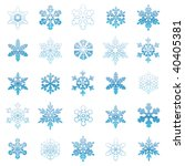snowflakes collection | Shutterstock .eps vector #40405381