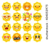 cartoon sun emojis set for your ... | Shutterstock .eps vector #404053975