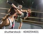 energy women practicing fight... | Shutterstock . vector #404054401