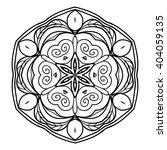decorative mandala. vector... | Shutterstock .eps vector #404059135