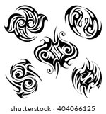 tribal tattoo set with various... | Shutterstock .eps vector #404066125