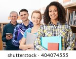 group of mature students... | Shutterstock . vector #404074555
