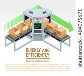 conveyor packing parcels.... | Shutterstock .eps vector #404075671