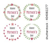 happy mothers day with flowers... | Shutterstock .eps vector #404082277