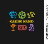 casino concept neon. place for... | Shutterstock .eps vector #404086279