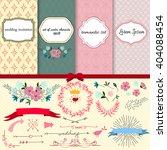 romantic set for scrapbook ... | Shutterstock .eps vector #404088454