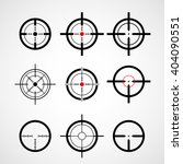 crosshair  gun sight   target... | Shutterstock .eps vector #404090551