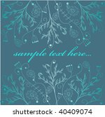 abstract hand drawn background. ... | Shutterstock .eps vector #40409074