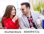 young couple having fun while... | Shutterstock . vector #404094721