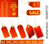 red price tags | Shutterstock . vector #40409725