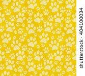 Yellow Doggy Paw Print Tile...