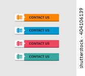 3d contact us button set with... | Shutterstock .eps vector #404106139