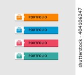 3d portfolio button set with... | Shutterstock .eps vector #404106247