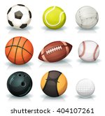 sports balls set  illustration... | Shutterstock .eps vector #404107261