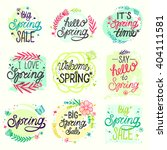 spring set. sale design with... | Shutterstock .eps vector #404111581