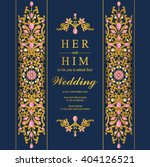 wedding invitation or card with ... | Shutterstock .eps vector #404126521