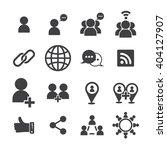 social icon  vector icon | Shutterstock .eps vector #404127907