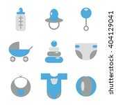 vector colorful baby icons | Shutterstock .eps vector #404129041