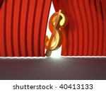 golden dollar sign on stage  ... | Shutterstock . vector #40413133