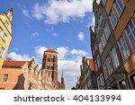 gdansk   apr 06  the old... | Shutterstock . vector #404133994