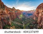 amazing view of zion national...