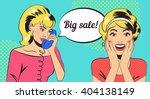 big sale. girls in style pop... | Shutterstock .eps vector #404138149