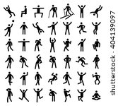 man excercise icon set | Shutterstock . vector #404139097
