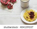millet porridge with milk ... | Shutterstock . vector #404139337