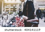 young businessman in black... | Shutterstock . vector #404141119