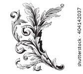 vintage baroque frame scroll... | Shutterstock .eps vector #404142037