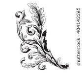 vintage baroque frame scroll... | Shutterstock .eps vector #404142265