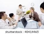 young business people having a... | Shutterstock . vector #40414465