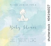 Watercolor Baby Boy Shower Card ...