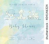 Watercolor Baby Boy Shower Car...