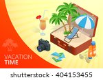 summer vacation time banner.  | Shutterstock .eps vector #404153455