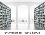 library interior design with... | Shutterstock . vector #404153935