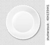 white plate  isolated on... | Shutterstock .eps vector #404155441