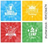 set of summer holidays design... | Shutterstock .eps vector #404156674