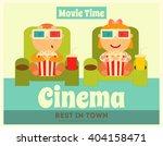 cinema poster. movie placard.... | Shutterstock .eps vector #404158471