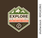 explore the outdoors badge... | Shutterstock .eps vector #404161861